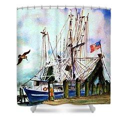 Nocho Boat Shower Curtain
