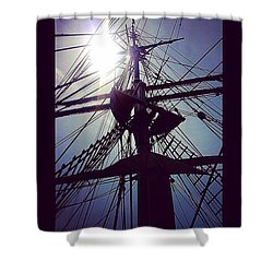 Mast In The Sun  Shower Curtain