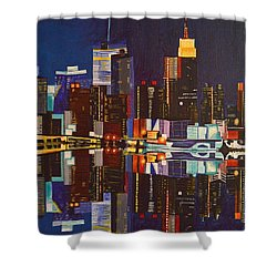 Nocturnal Arrangement Shower Curtain by Donna Blossom