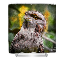 Shower Curtain featuring the painting Nocturnal Beauty by Judy Kay
