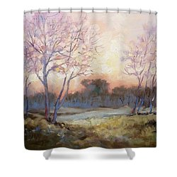 Nocturnal Landscape Shower Curtain by Irek Szelag