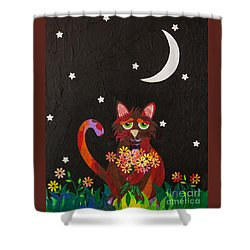 Nocturnal Romantic Shower Curtain