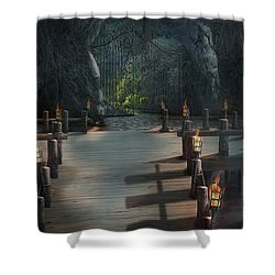 Nocturnal Shower Curtain