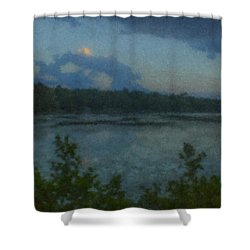 Nocturne At Ames Long Pond Shower Curtain