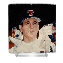 Nolan Ryan Medley Shower Curtain