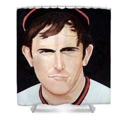 Nolan Ryan With The Angels Shower Curtain