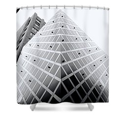 Shower Curtain featuring the photograph Non-pyramidal by Wayne Sherriff