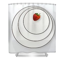 Nonconcentric Strawberry No. 2 Shower Curtain