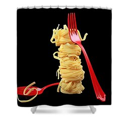 Noodles-pasta Shower Curtain by Manfred Lutzius