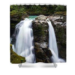 Nooksack Falls Shower Curtain by Ryan Manuel