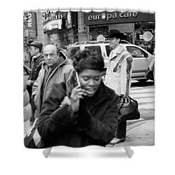Shower Curtain featuring the photograph Noonday Cowboy by Dave Beckerman