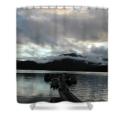 Nootka Sound Fog Shower Curtain