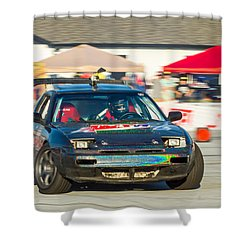 Shower Curtain featuring the photograph Nopi Drift 1 by Michael Sussman
