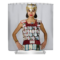 Noquisi In The Lady Knight Shower Curtain