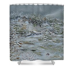 Shower Curtain featuring the painting Nor'easter by Judith Rhue