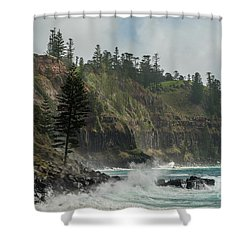 Shower Curtain featuring the photograph Norfolk Island Coastline 01 by Werner Padarin