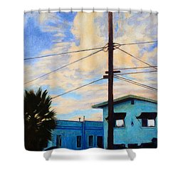 Normal Ave Shower Curtain by Andrew Danielsen