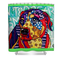 Norman  Shower Curtain by Jackie Carpenter