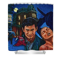 Shower Curtain featuring the painting Norman by Michael Frank