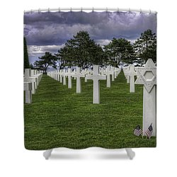 Normandy American Cemetery Shower Curtain