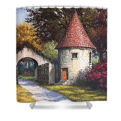 Normandy Garden Shower Curtain by Sean Conlon
