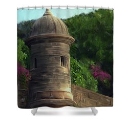 Norma's Pr Tower Shower Curtain