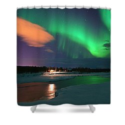 Norrsken 3 Shower Curtain by Thomas M Pikolin
