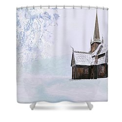 Norsk Kirke Shower Curtain