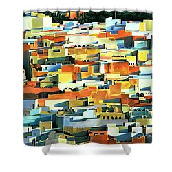North African Townscape Shower Curtain by Robert Tyndall