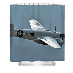 North American B-25j Mitchell N3675g Photo Fanny Chino California April 30 2016 Shower Curtain by Brian Lockett