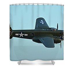 North American B-25j Mitchell N5672v Betty's Dream Chino California April 29 2016 Shower Curtain by Brian Lockett