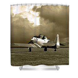 North American T6 Shower Curtain by Tim McCullough