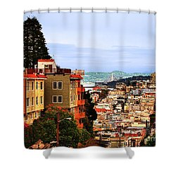 North Beach, San Francisco Shower Curtain
