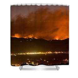 North Boulder Colorado Fire Above In The Hills Shower Curtain by James BO  Insogna