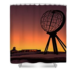 North Cape Norway At The Northernmost Point Of Europe Shower Curtain by Ulrich Schade
