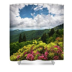 North Carolina Appalachian Mountains Spring Flowers Scenic Landscape Shower Curtain