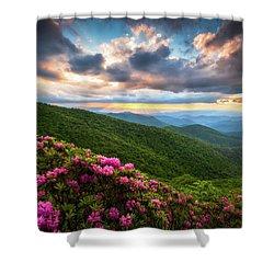 North Carolina Blue Ridge Parkway Scenic Landscape Asheville Nc Shower Curtain