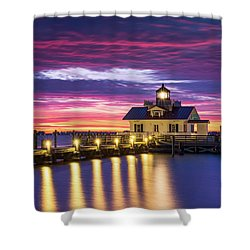 North Carolina Outer Banks Lighthouse Manteo Obx Nc Shower Curtain