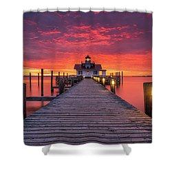 North Carolina Outer Banks Manteo Lighthouse Obx Nc Shower Curtain