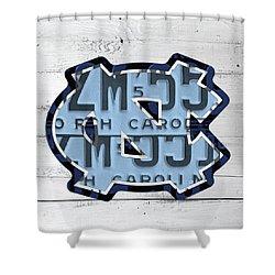 North Carolina Tarheels Vintage Sports Team Logo License Plate Art Shower Curtain