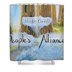 North Coast People's Alliance Shower Curtain
