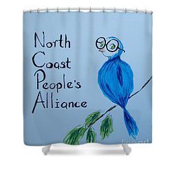 North Coast People's Alliance With Bernie Shower Curtain