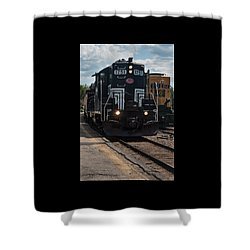 Shower Curtain featuring the photograph Conway Scenic Railroad - New Hampshire by Suzanne Gaff
