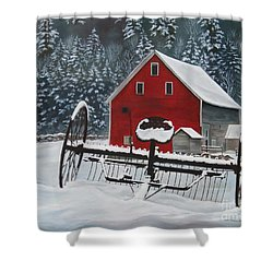 North Country Winter Shower Curtain