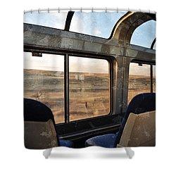 North Dakota Great Plains Observation Deck Shower Curtain by Kyle Hanson