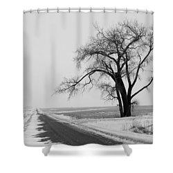 North Dakota Scenic Highway Shower Curtain by Bob Mintie
