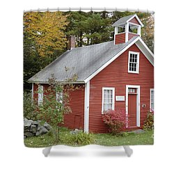 North District School House - Dorchester New Hampshire Shower Curtain