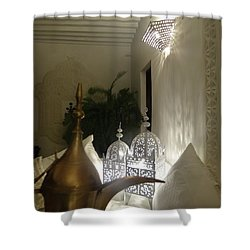 North - Eastern African Home - Lanterns And Jug Shower Curtain