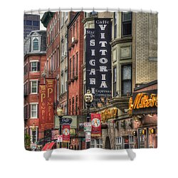 North End Charm 11x14 Shower Curtain by Joann Vitali