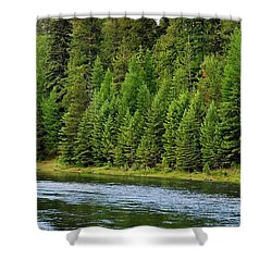 North Fork Of The Flathead Shower Curtain